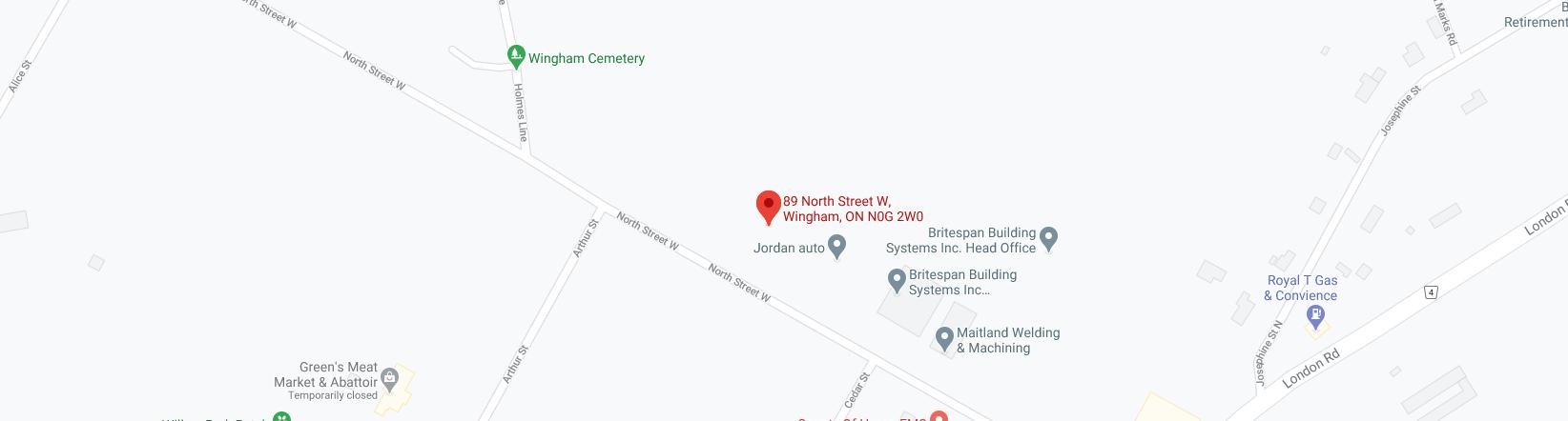 Wingham Memorial Map