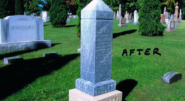 Headstone Cleaning